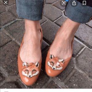 Tory Burch Fox Flats size 10